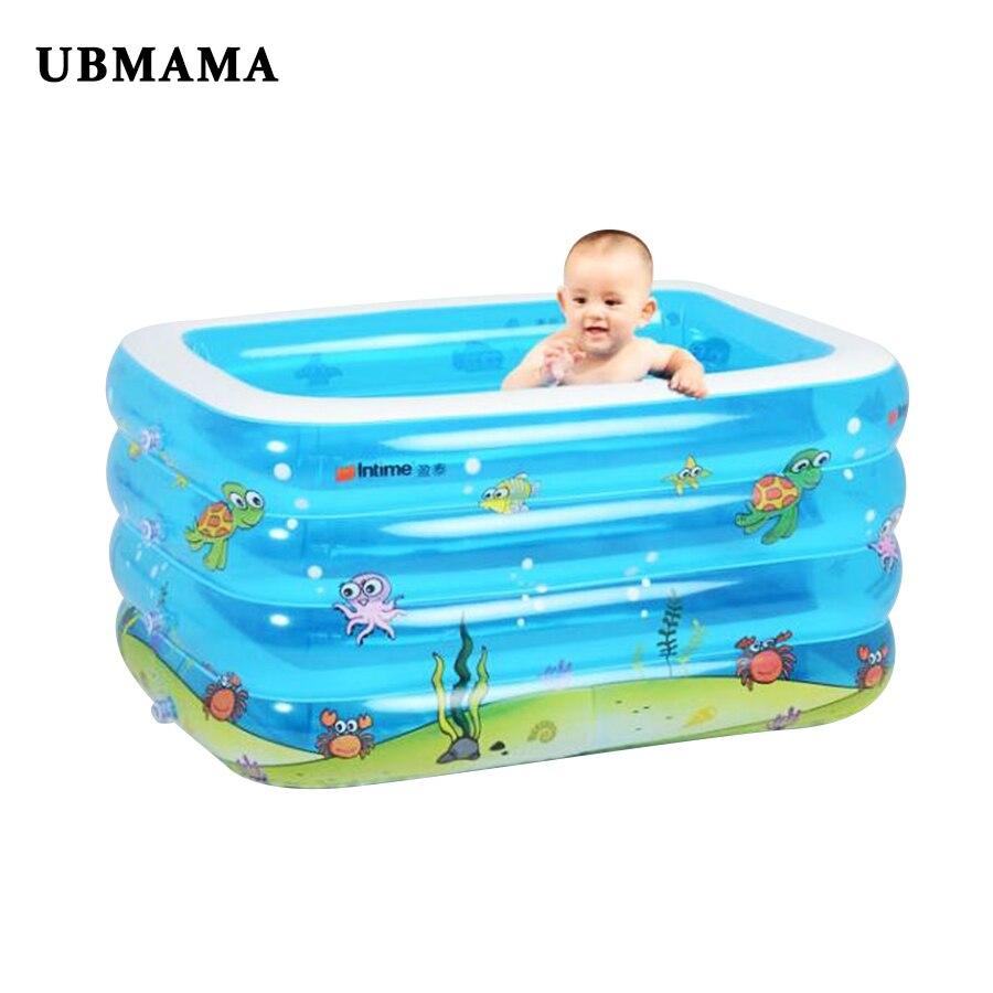 Quatre anneaux piscine carrée gonflable enfants baignoire piscine à balles d'eau d'été jouer piscines