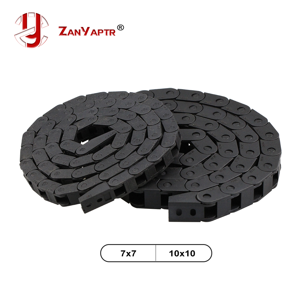10 X 10mm 7x 7 Length 1 Meter Cable Drag Chain Wire Carrier With End Connectors For CNC Router Machine Tools