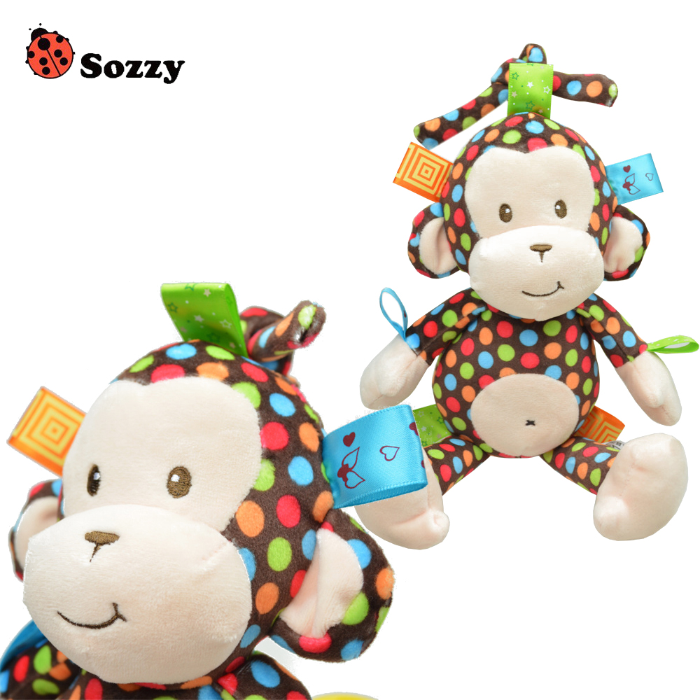Aliexpress.com : Buy 1pcs High Quality Plush Baby Toy Sozzy Baby Rattle Toys Monkey Pull Bell