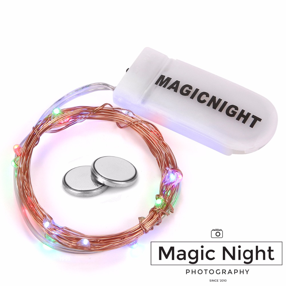 Magicnight 20 Multi Micro LED String Lights on 7 Feet Extra Thin Copper Wire for DIY Wedding Centerpiece included battery