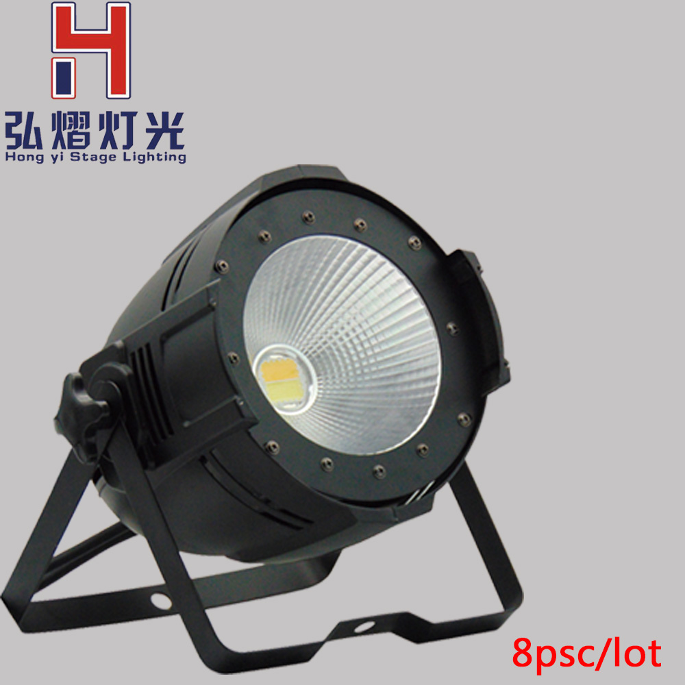 (8psc)New arrival LED PAR,aluminum case led par light 100w COB super power led cool white and warm white led Par Lighting цена