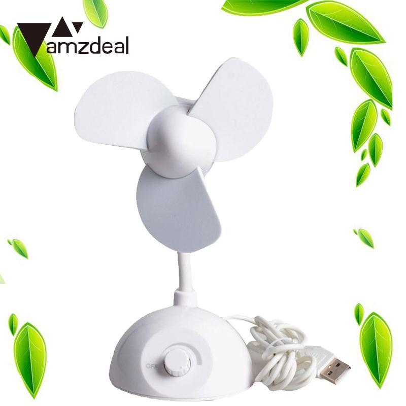 Amzdeal Новый Портативный белый плавная регулировка Скорость столы мини-abs охлаждения Cooler usb-вентилятор для компьютера Тетрадь портативных ПК