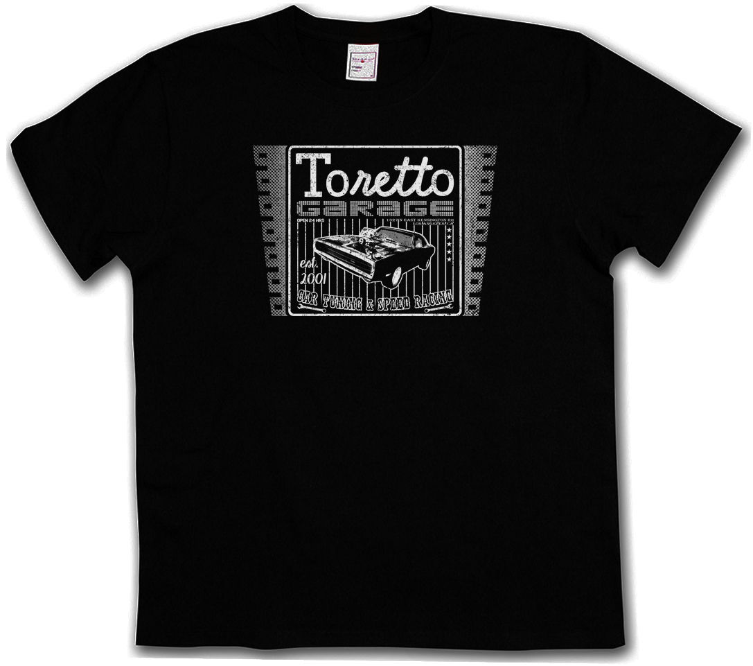 VINTAGE TORETTO GARAGE LOGO T SHIRT Movie 2 The Fast And