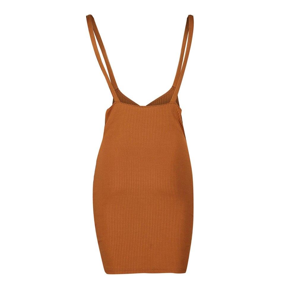 HTB1FDHLaA5E3KVjSZFCq6zuzXXay Women's Summer Dress Fashion Suspended Dresses Sexy Closed Receive Waist Pure Colored Dresses Brief Sleeveless Dress G0527#20