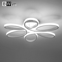 BMART New Modern Led Chandeliers For Living Room Bedroom Dining Room Aluminum Body Indoor Home