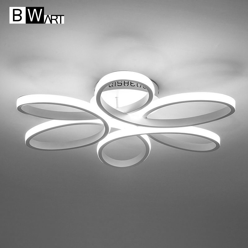BMART New Modern Led Chandeliers For Living Room Bedroom Dining Room Aluminum Body Indoor Home