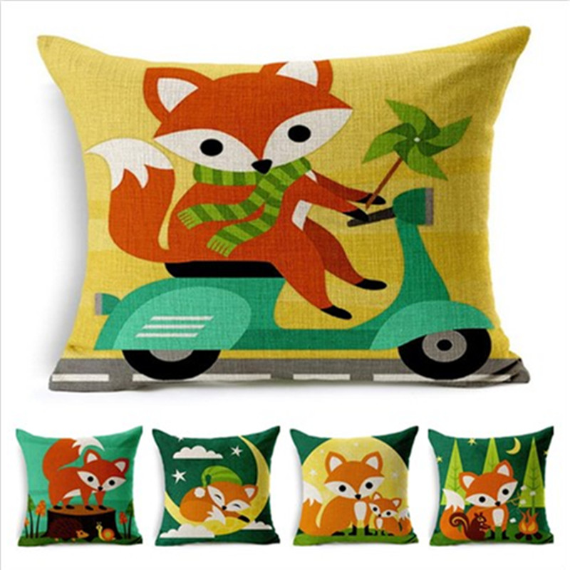New Item Home Decorative Sofa Throw Pillow Cartoon Style Fox Cushion Square  Printed Cojines High Quality. Online Get Cheap Handmade Decorative Items  Aliexpress com