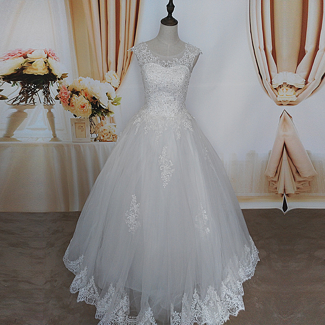 ZJ9128 2019 2020 new style fashion White Ivory Wedding Dresses for brides plus size maxi formal sweetheart with lace edge 2