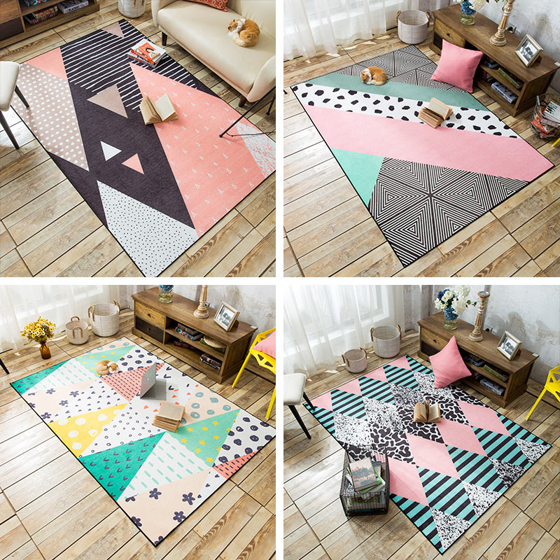 WINLIFE European Style Romantic Carpets For Living Room/Bedroom Colorful Tea Table Rugs Bedside Lovely Mats Washable Carpets