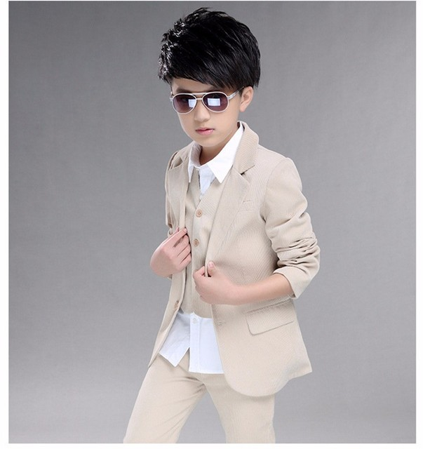 3f657a797754 2017 Boys clothing Suit Kids 3 12 Years Solid Wedding Tuxedo set ...