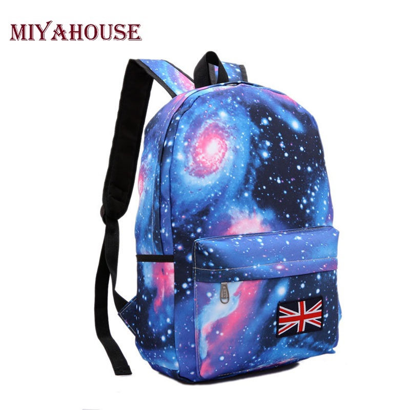 Miyahouse Girls School Bags For Teenage Galaxy Stars Universe Space Printing Backpack Women Fashion Canvas Women Backpacks high quality anime death note luminous printing backpack mochila canvas school women bags fashion backpacks for teenage girls