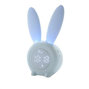 Image 5 - Reloj despertador creativo de conejo, reloj despertador Led Digital creativo de dibujos animados para sala de estar, suministros para el hogar