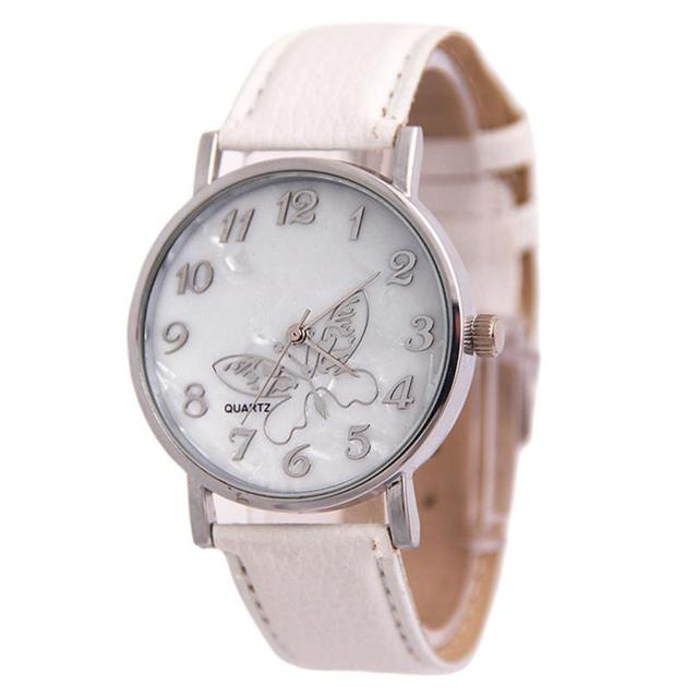 2018 Fashion  Quartz Watch Women Girl Embossed Band Butterfly Ladies Wrist Bracelet Watches  Dropship Relogio saat  #D