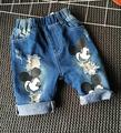 2-7Years Mickey Cartoon Mouse Printing Hot Summer  Jeans Shorts baby girls Denim Shorts boys shorts