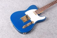 Free shipping Chinese Factory Custom 2015 100% NEW TL electric guitar,blue TL guitar electric guitar Gold hardware