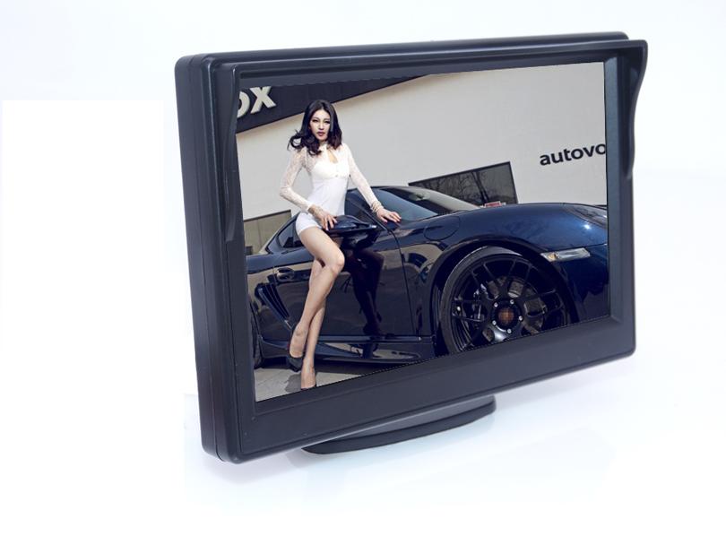 Prix pour Nouvelle arrivée 5 pouces Stand Affichage Numérique LCD De Voiture Pour Inverser Caméra De Recul DVD MAGNÉTOSCOPE Vente Chaude