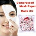 Piel cuidado de la cara DIY Facial del papel comprimido Masque mascarilla 50 unids envío gratis