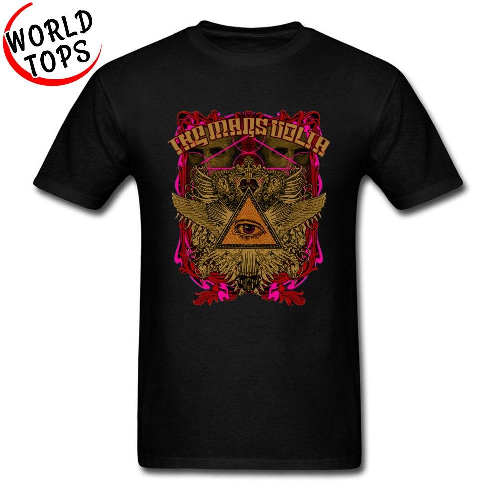 Vintage Men T-Shirt Luminous The Mars Volta 100% Cotton O Neck Short Sleeve Clothing Shirts Mens Sweatshirt Fashion Tee Shirts