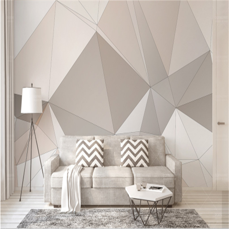 Custom European 3d Murals Geometry Triangle 3d Wallpaper Living Room Environment Friendly Bedroom Restaurant TV Kitchen Study custom wall papers home decor flamingo sea 3d wallpaper murals tv background kitchen study bedroom living room 3d wall murals