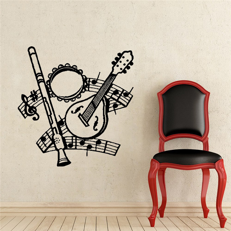 Kinds Of Music font b Instruments b font Wall Decals font b Musical b font Notes