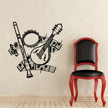Kinds Of Music Instruments Wall Decals Musical Notes Home Kids Nursery Bedroom Art Fashion Decor Wall Murals Stickers