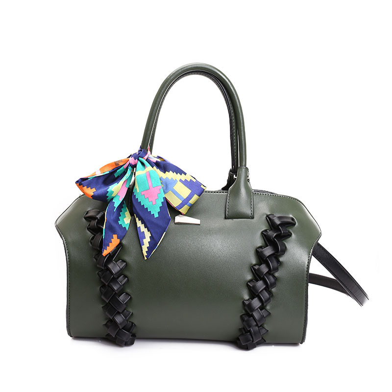 ФОТО Hazy beauty New plaid pu leather women handbag super chic lady shoulder bag greenery fresh design girl travel bag big size DH328