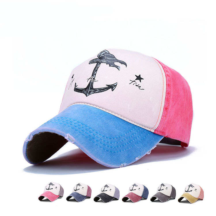 New arrival Pirate ship Anchor Stars baseball caps Outdoor sports hip hop mesh hat Men Women Golf gorras planas snapback hats