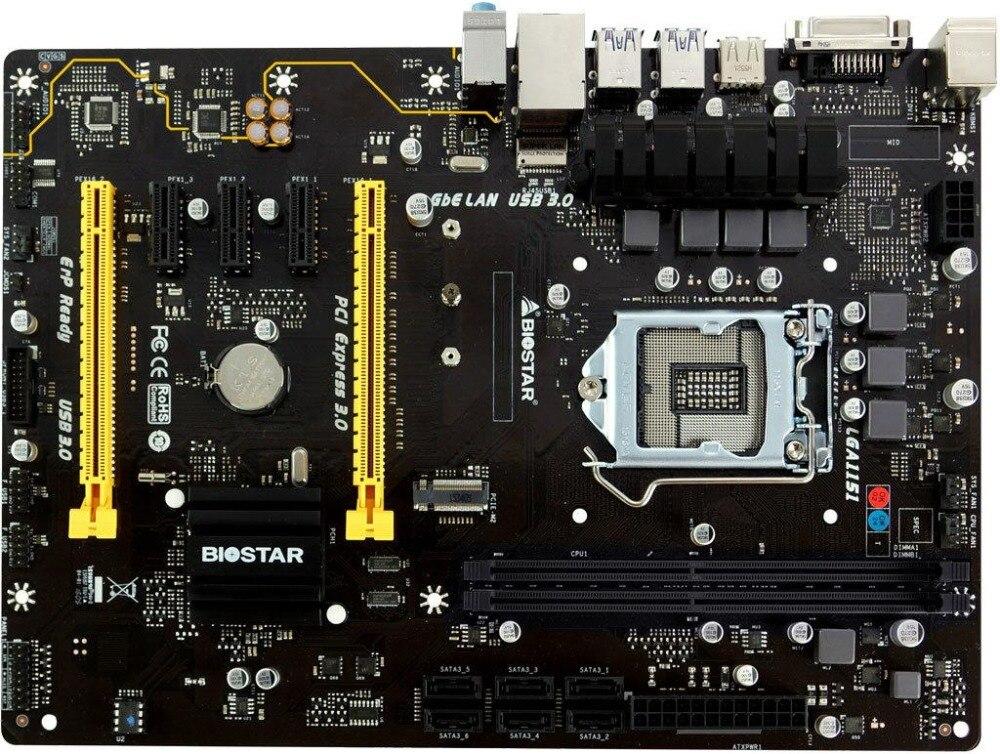 Original BIOSTAR TB150 PRO 1151 Motherboard M.2 DDR4