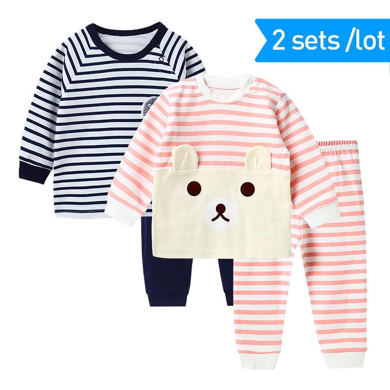 2 sztuk / zestaw Pidżamy dziecięce Dla Dziewczyn Pijamas Infantil - Ubrania dziecięce - Zdjęcie 2