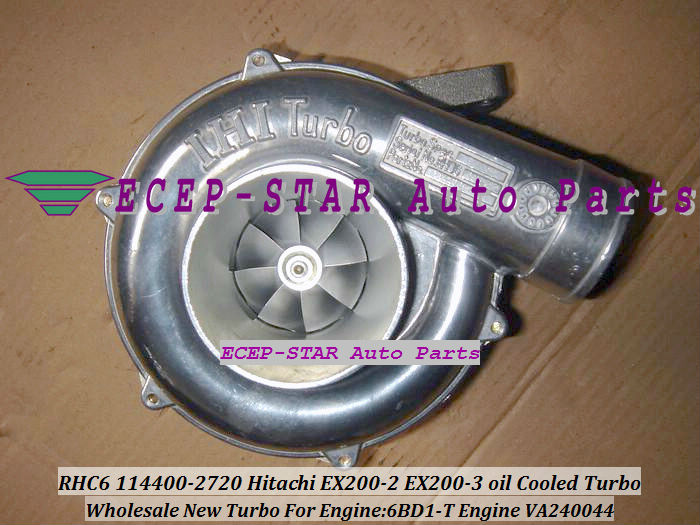 Free Ship RHC6 114400-2710 716236-0001 Turbo For HITACHI EX200-2 EX200-3 Excavator Earth Moving Off Highway Truck 6BD1T 6BD1-T