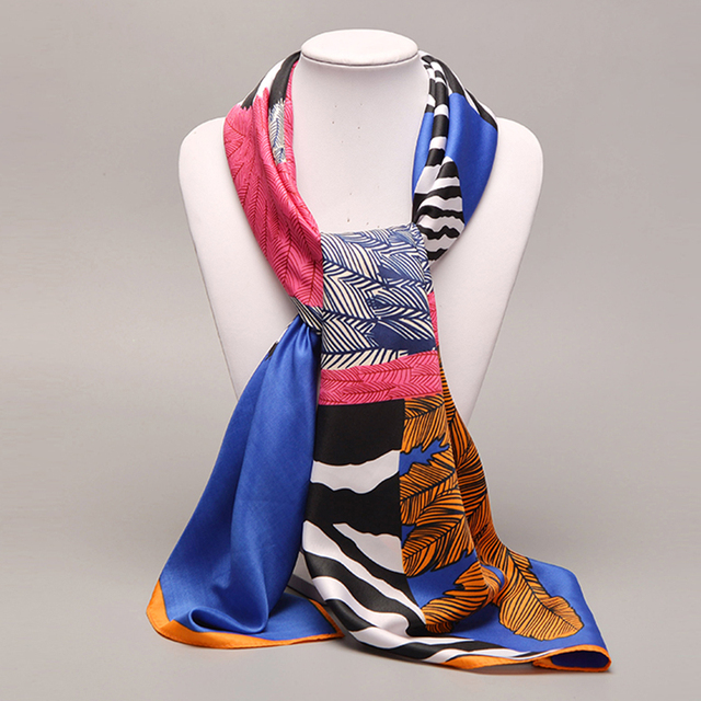Large Silk Scarf Angle Zebra | Lightweight Scarves