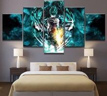 5 шт. HD Печать Жемчуг дракона супер Гоку и Вегета плакаты, постеры на холсте стены Искусство для предметы интерьера на стену Декор искусства