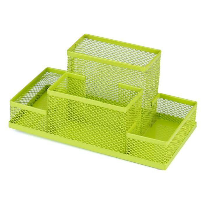 Multi-Purpose Metal Pen Holder Pencils Stationery Storage Box Pencil holder Office supplies Organizer Green Box