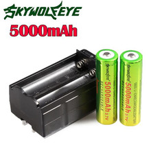 HOT bicycle light 1 x3.7V 18650 5000mAh Li-ion Rechargeable Battery + Charger For Torch NEW august30