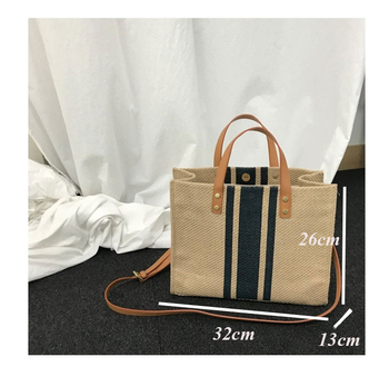 Flug Katze Fashion Women Linen Handbag Large Shopping Tote Holiday Big Basket Bags Summer Beach Bag Woven Beach Shoulder Bag 4