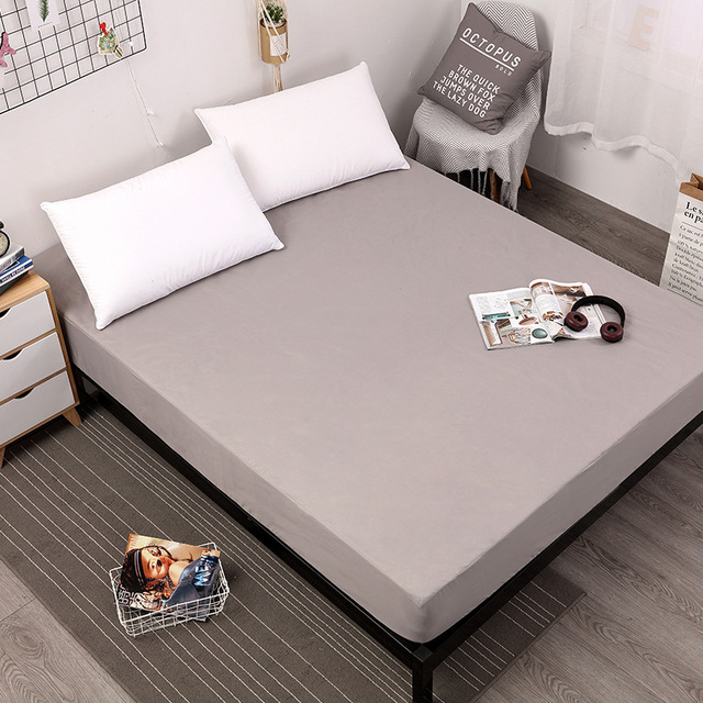 Nieuwe Komende Solid Hoeslaken Op Elastische Band Matras Cover met Elastische Rubberen Band Gedrukt Laken Hot Selling Bed beddengoed
