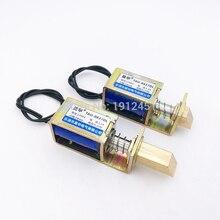 Elektrikli kilit dc 6V 12V 24V açık çerçeve elektromıknatıs kapı kilidi lineer Solenoid S0837DL elektronik kilit