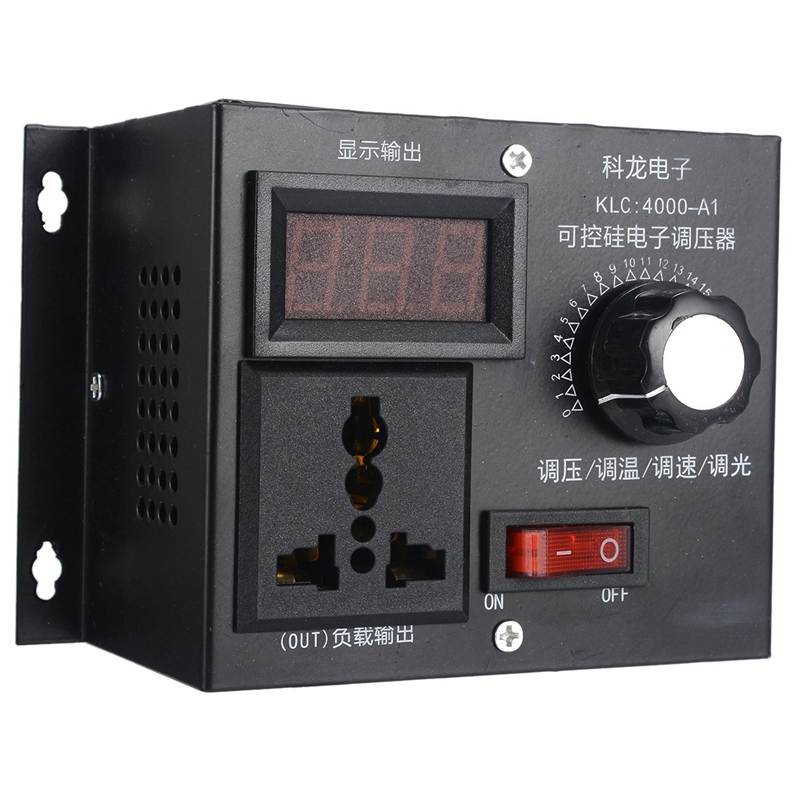 4000W AC 220V Variable Voltage Controller For Fan Speed Motor Control Dimmer DIy