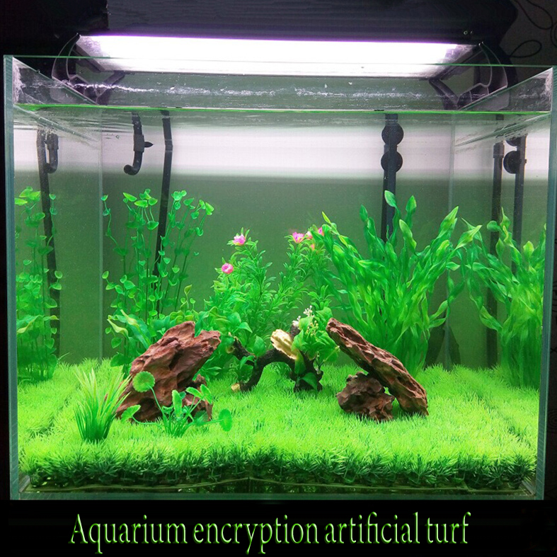 Artificial Lawn Turf Grass plants for aquarium decorations ...