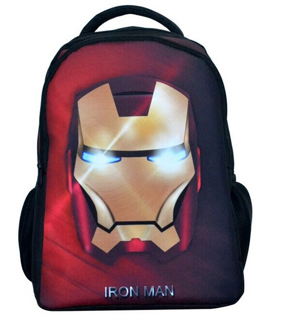 d97b93b36b3c Free Shipping Boy School Bag Kids Outdoor Backpack Iron Man Kids Book Bag  Baby School Backpacks