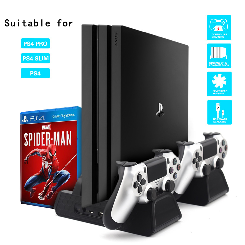 3-in-1-for-ps4-ps4-slim-ps4-pro-vertical-stand-with-dual-controller-charger-station-games-for-sony-font-b-playstation-b-font-4-cooling-fan