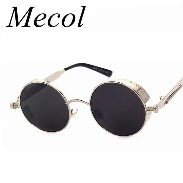 round designer sunglasses  Aliexpress.com : Buy 2016 Steampunk Designer Sunglasses Side Visor ...