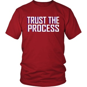 Trust The Process Shirt | Embiid Process 2019 Fashion 100% Cotton Slim Fit Top Solid Color Company T Shirts(China)