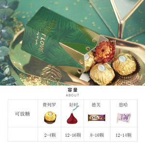 Image 5 - 리본 초콜릿 선물 상자와 녹색 사탕 상자 손님을위한 기념품 결혼식 호의 및 선물 생일 베이비 샤워 호의 상자