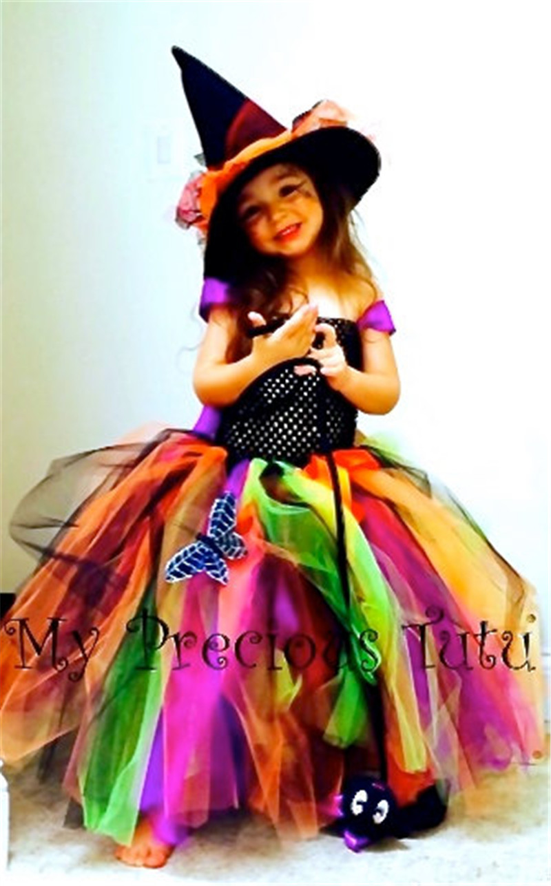 2017 New Summer Baby Party Ball Gown Children Clothes Cute Girls Dresses for Christmas Party Girls Costume Witch Kids Clothing ёрш milardo amur amusmg0m47