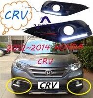 1set Car bumper lamp for CRV daytime light 2012 2013 2014year car accessories LED Daylight CR V fog lamp white yellow turn