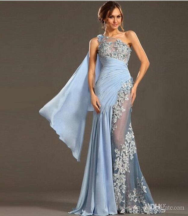 Designer Evening Dresses Sale On White: 2017 See Through Sexy Evening Gowns Applique Designer