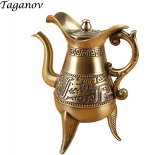 480 ml Flagon bronze wine pot big vision alcohol flask gift Liquor engraved alcohol-bottle fiole flask-for-alcohol heupfles