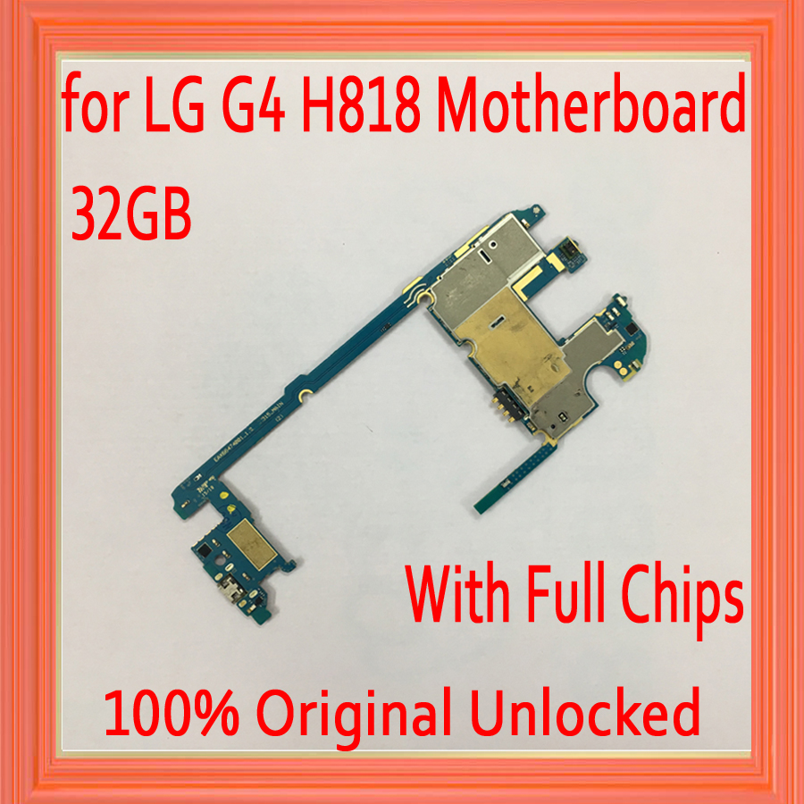 Good quality for LG G4 H818 Motherboard wit Full Chips,32gb Original unlocked for LG G4 H818 Logic board with Android System