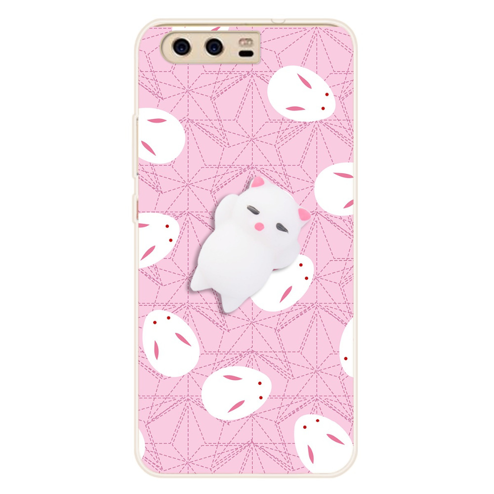 Squishy 3d cat phone case - Squishy 3d Cat Phone Case For Huawei P8 P9 P10 Lite 2017 Case Anti Stress Gel Claw Kitty Cover For Honor 9 8 Pro V9 Soft Fundas In Fitted Cases From Phones